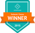 OpenCare Patients' Choice Winner 2015 badge